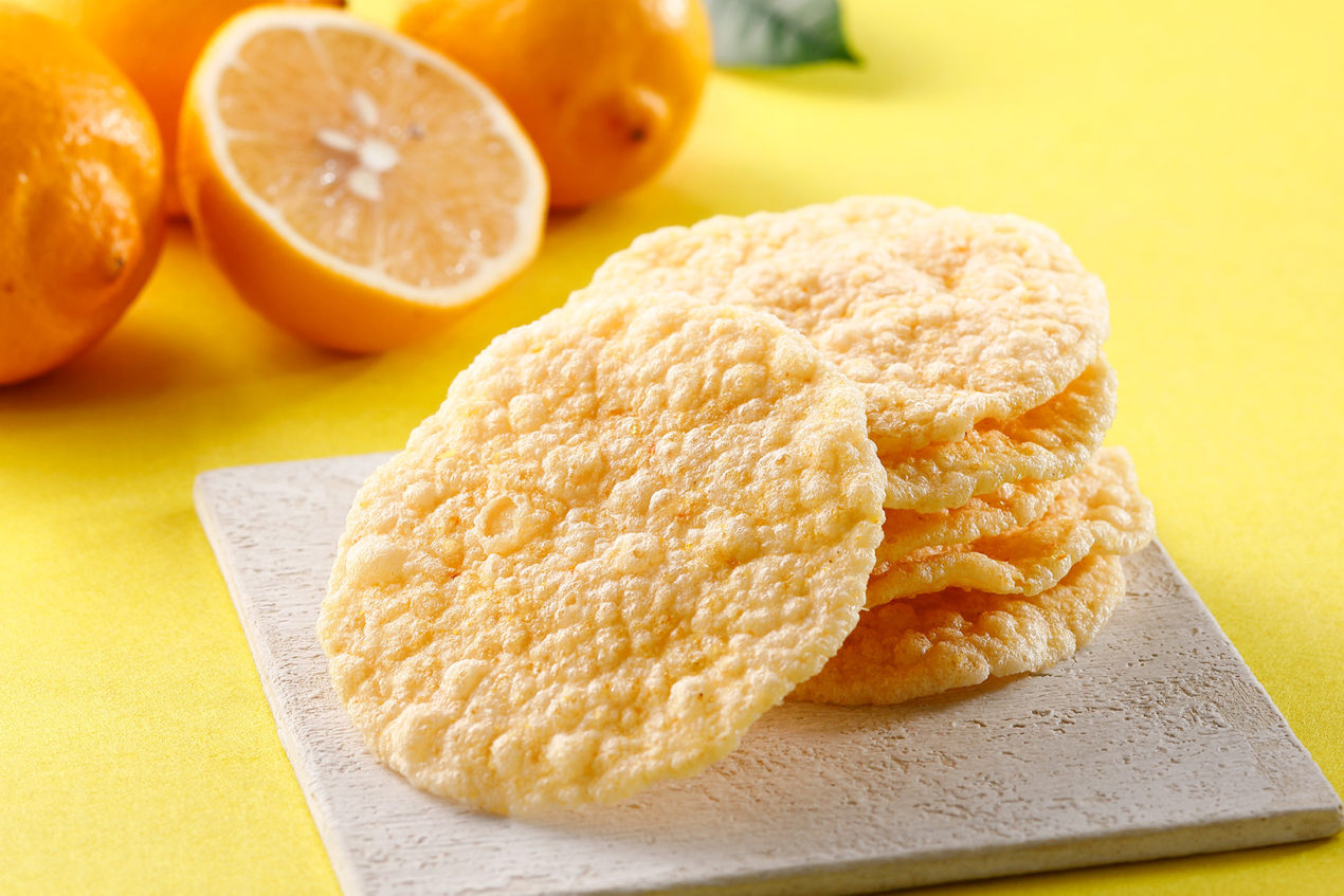 天ぷらせんべい レモン塩