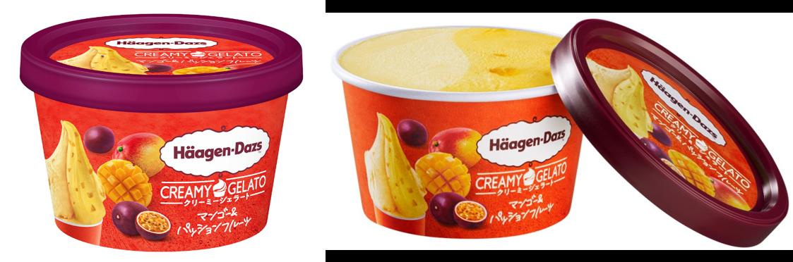 ハーゲンダッツ ミニカップ CREAMY GELATO マンゴー&パッションフルーツ