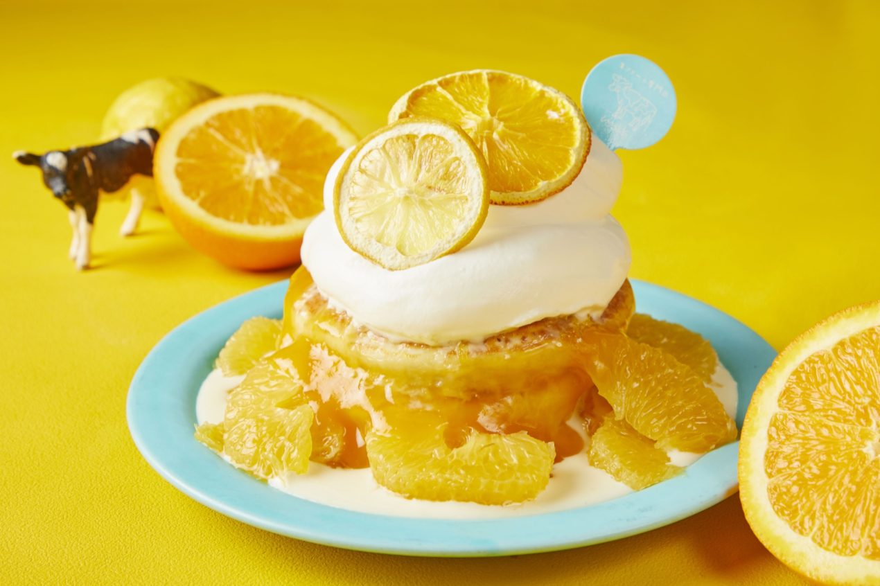 甘夏みかんとレモンのパンケーキ