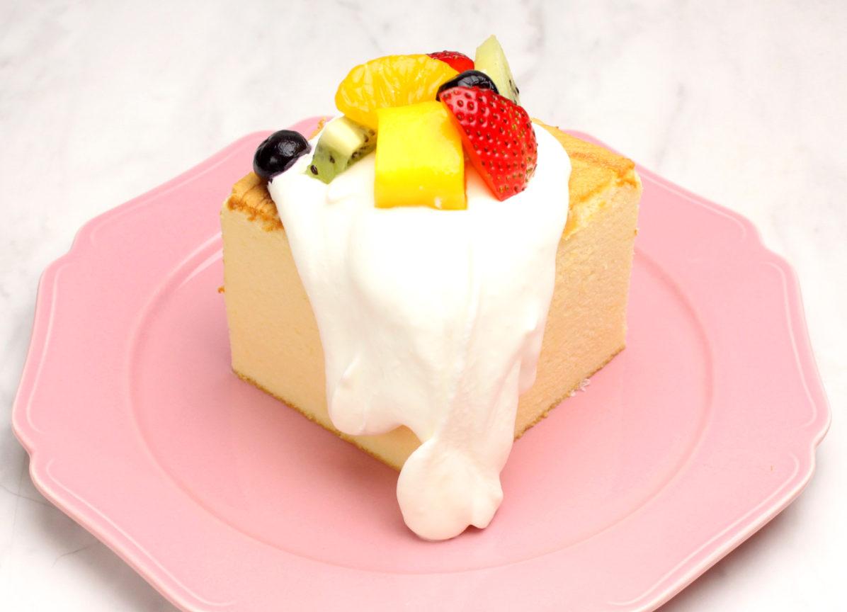 台湾カステラデコケーキ ミックスフルーツ