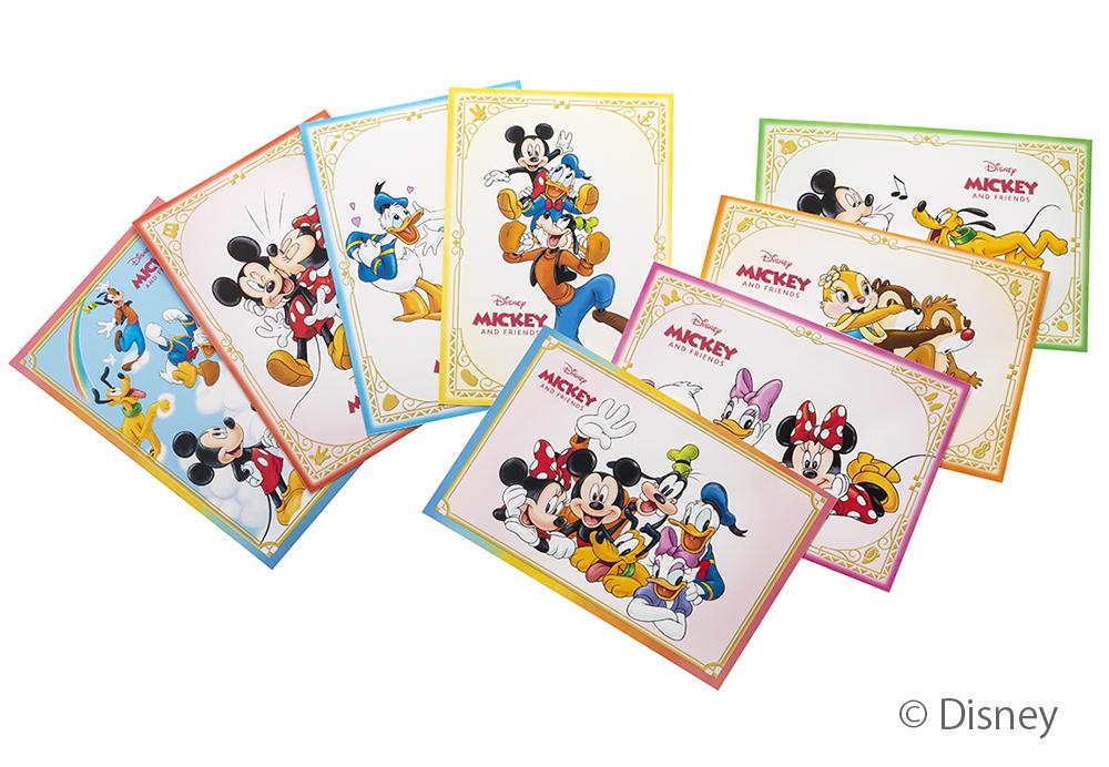 ディズニーキャラクターのポストカード