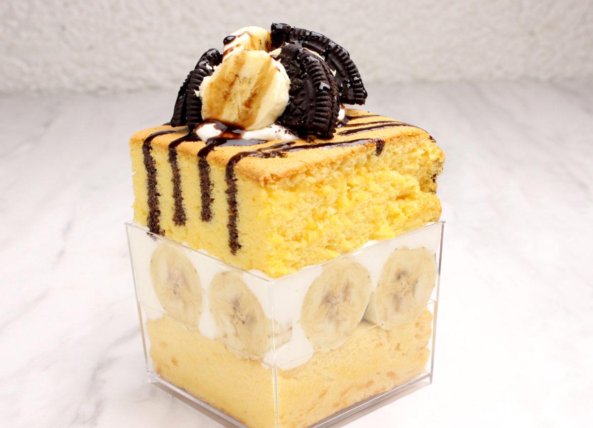 台湾カステラデラックスショートケーキ チョコバナナとオレオ